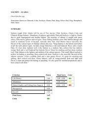 SALMON – ALASKA Oncorhynchus spp. Sometimes known as ...