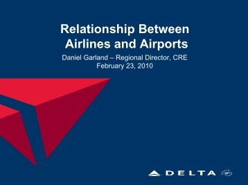 Relationship Between Airlines and Airports
