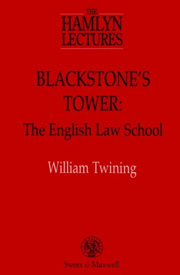 Blackstone's Tower: The English Law School - College of Social ...