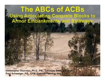 Concrete Blocks - Association of State Dam Safety Officials