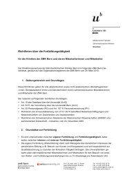 (Richtlinien) (pdf, 540KB) - zahnmedizinische kliniken zmk bern ...
