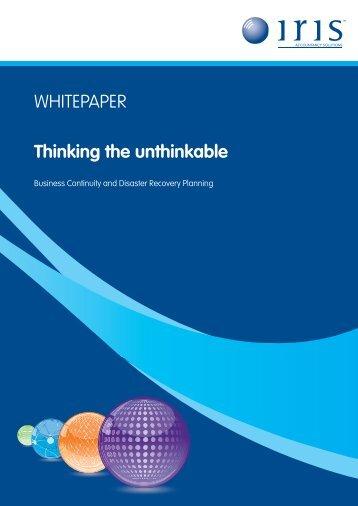 WHITEPAPER Thinking the unthinkable - AccountingWEB