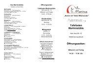 Martinistüble (Flyer) - Katholische Kirchengemeinde St. Martin in ...