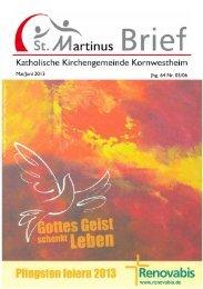 Martinusbrief 2013 Mai & Juni - Katholische Kirchengemeinde St ...