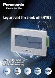 Log around the clock with GT02 - Panasonic Electric Works Europe AG