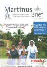 Martinusbrief 2012 Oktober - Katholische Kirchengemeinde St ...