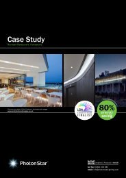 case study on Rocksalt Restaurant - PhotonStar LED