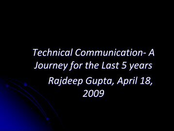 Technical Writing- A Path for the Last 5 years