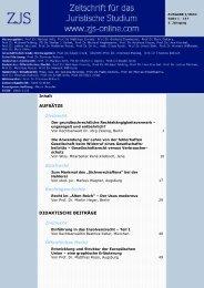 AUFSÄTZE Zivilrecht Strafrecht Rechtsgeschichte ... - ZJS