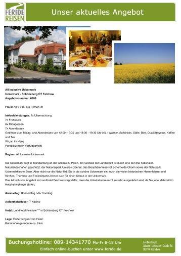 All Inclusive Uckermark - Eventreisen - Trierischer Volksfreund