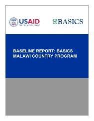 USAID/BASICS Malawi Program Baseline Assessment Report