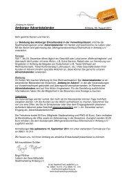 Amberger Adventskalender mit Handel und Gastronomie