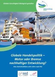 Globale Handelspolitik – Motor oder Bremse nachhaltiger ...