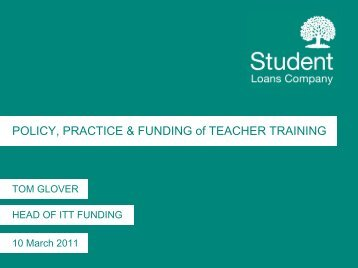 Policy, Practice & Funding of Teacher Training
