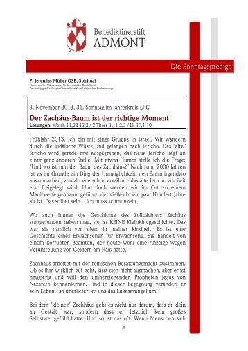 03.11.2013 31ter Sonntag im JK - martyria.de
