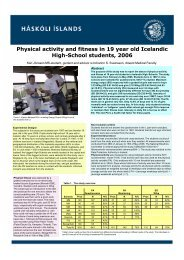 Physical activity and fitness in 19 year old Icelandic High-School ...