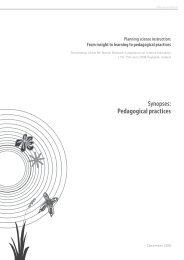 Synopses: Pedagogical practices