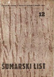 ÅUMARSKI LIST 12/1952