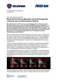 Neue Scania V8 Lkw-Baureihe
