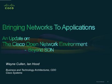 Bringing Networks to Applications - Cisco Knowledge Network