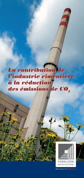 La contribution de l'industrie cimentière à la réduction ... - Febelcem
