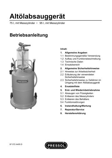 Altölabsauggerät - Pressol