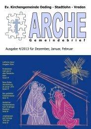 Gemeindebrief 4-2013 - Ev. Kirchengemeinde Oeding