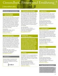 Gesundheit, Fitness und Ernährung - Volkshochschule Oldenburg