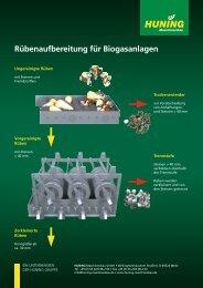 Rübenaufbereitung für Biogasanlagen - Huning Maschinenbau