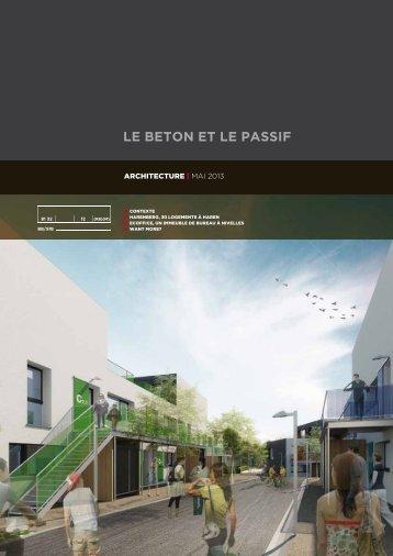 le beton et le passif (architecture 6) - Febelcem