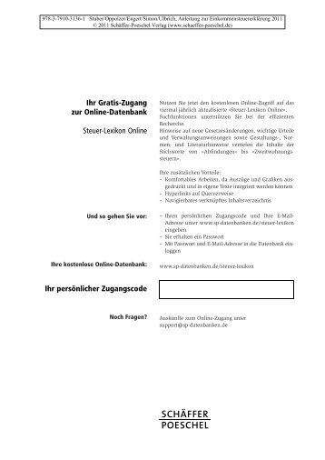 Inhaltsverzeichnis (PDF) - Schäffer-Poeschel Verlag GmbH