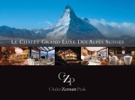 le chalet grand luxe des alpes suisses - Chalet Zermatt Peak, Luxury ...