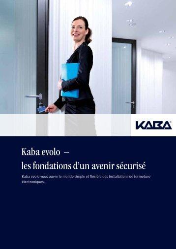 Kaba evolo – les fondations d'un avenir sécurisé