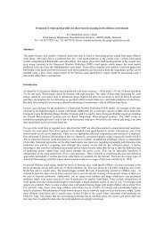 Prediction of wind speed profiles for short-term forecasting in the ...