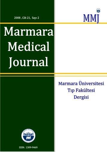 Tam Metin PDF (2931 KB) - Marmara Medical Journal