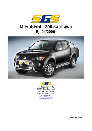 Mitsubishi L200 KA0T 4WD - SGS
