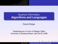 Quantum Informatics: Algorithms and Languages - enigma software ...