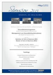 Master of Arts in Busine - IMC Fachhochschule Krems GmbH