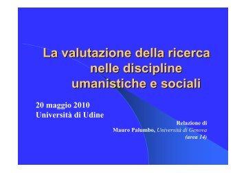 Intervento Prof. Mauro Palumbo - Nucleo di Valutazione