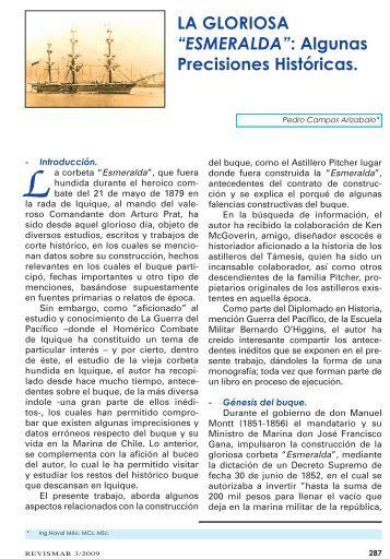 """LA GLORIOSA """"ESMERALDA"""": Algunas ... - Revista de Marina"""