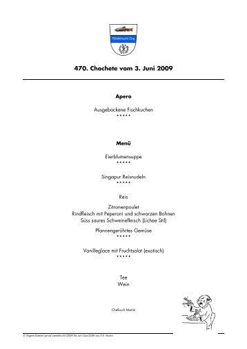 470. Chochete vom 3. Juni 2009