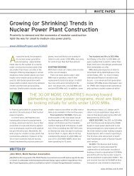 Growing (or Shrinking) Trends in Nuclear Power Plant ... - mThink