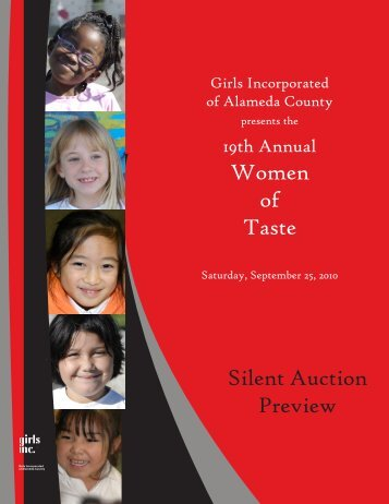 Women of Taste Silent Auction Preview - Girls Inc. of Alameda County