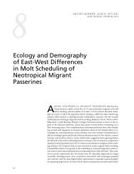 Ecology and Demography of East-West Differences in Molt ...