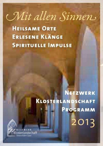 Programm 2013 PDF - Klosterlandschaft OWL