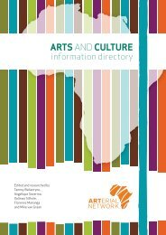 ARTS AND CULTURE Information Directory - Arterial Network