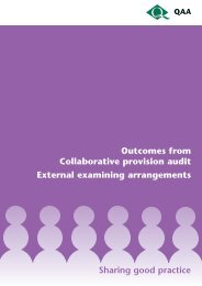 Outcomes from Collaborative provision audit: External examining ...
