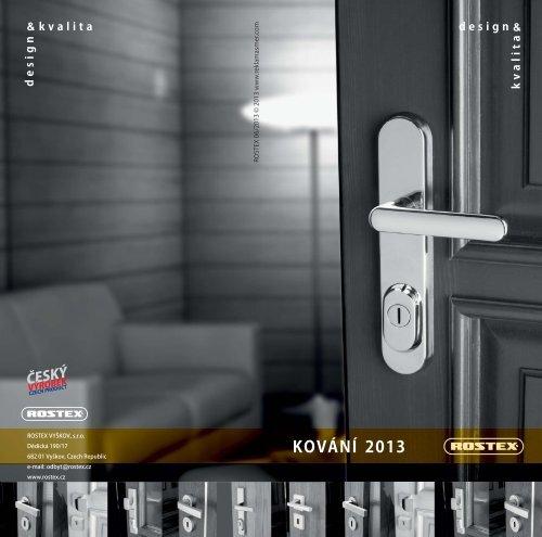 Katalog Kování ROSTEX 2013 - výběr