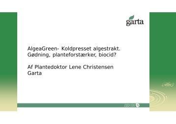 Lene Christensen OGT AlgaeGreen