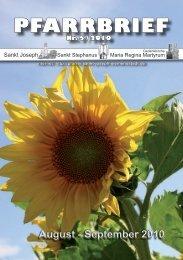 Download Pfarrbrief-2010-05.pdf - St. Joseph, Siemensstadt